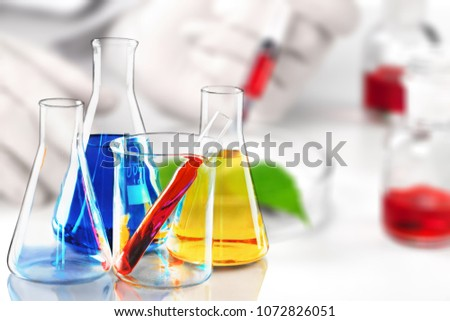 Abstract chemistry development #1072826051