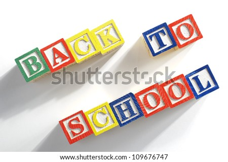 Abstract child really want back to school