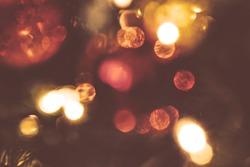 Abstract christmas background, light blur creating nice bokeh