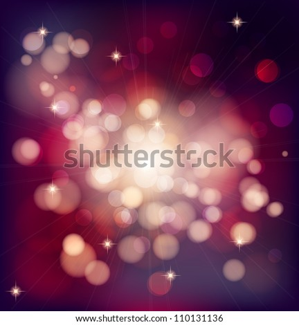 Abstract Christmas background with bokeh lights - Shutterstock ID 110131136