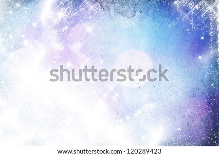 Abstract Christmas background with snowflakes