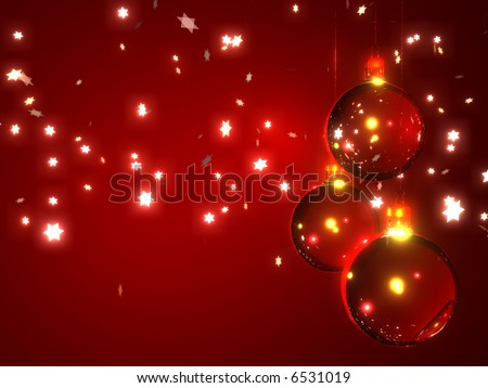 Abstract Christmas background with snowflakes stars and ornaments
