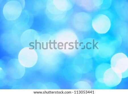 Abstract Christmas blue background formed by several chains