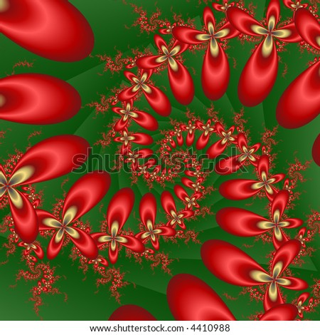 abstract christmas flower spiral