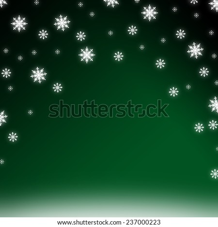 Abstract christmas illustration with snowflakes