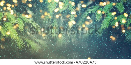 Abstract christmas lights on background #470220473