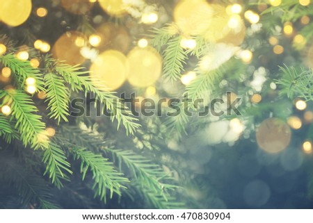 Abstract christmas lights on background #470830904