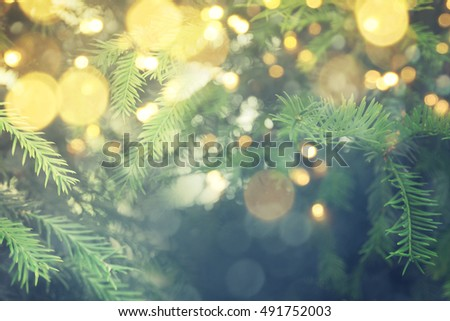 Abstract christmas lights on background #491752003