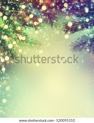 Abstract christmas lights on background. #520095310