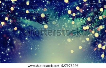 Abstract christmas lights on background. #527973229