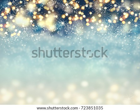Abstract christmas lights on background. #723851035