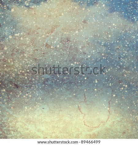 abstract christmas snow paper background - stock photo