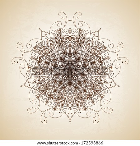 Abstract circle floral ornamental border Lace pattern design Hand drawn decorative background Ornamental border frame Can be used for banner web design wedding cards etc JPG