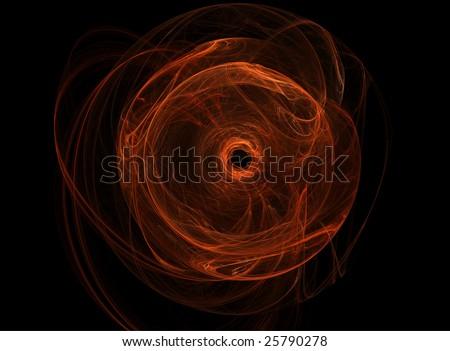 Abstract circle orange wormhole, Vol.2 of Wormhole set