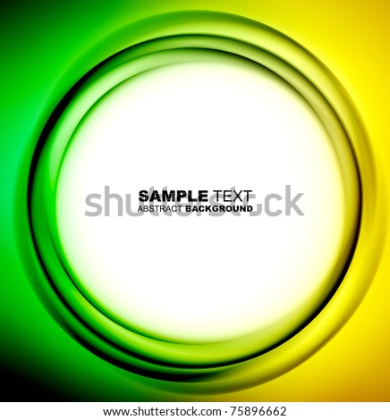 Abstract circle template with place for text