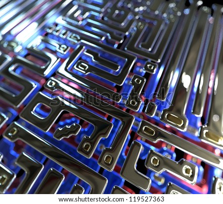 Abstract circuit inside microchip