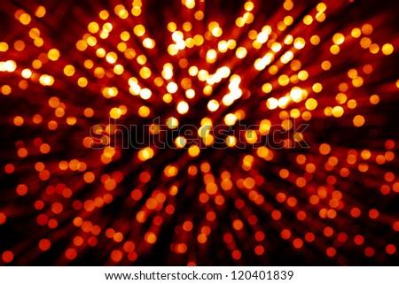 Abstract circular bokeh background of Christmas light