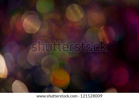 Abstract circular bokeh background of Christmastime