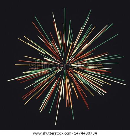 Abstract circular geometric background. Circular geometric centric motion pattern. 3d rendering - illustration.