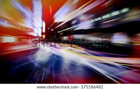 abstract city lights #375186481