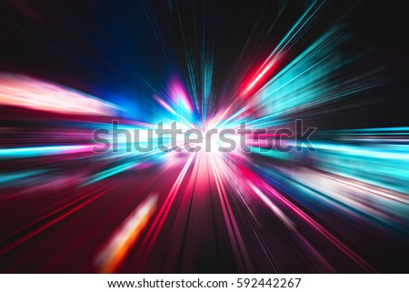 Abstract city street light explosion effect #592442267