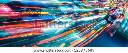 Abstract city traffic - stock photo