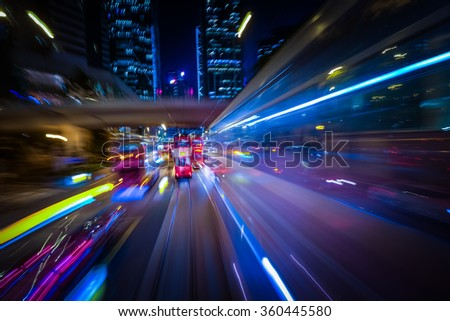 abstract cityscape traffic...