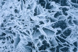 Abstract close-up of broken ice surface texture background