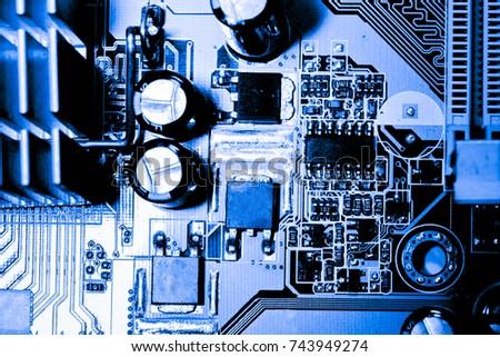 abstract close up of circuits...