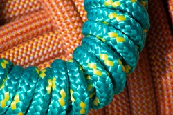 abstract close up of climbing rope.