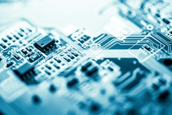 Abstract,close up of Mainboard Electronic background.