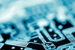 Abstract, close up of Mainboard Electronic background. (logic board, cpu motherboard, circuit, system board and mobo)