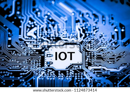 Abstract,close up of Mainboard Electronic computer background. (IOT,Internet of Things)