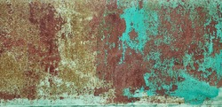 Abstract closeup on dark backdrop. Design element. Grunge metal background, rusty steel texture.  Scratched wall. Dirty old surface.  Metal color.