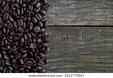 Abstract coffee beans frame with copy space for words.