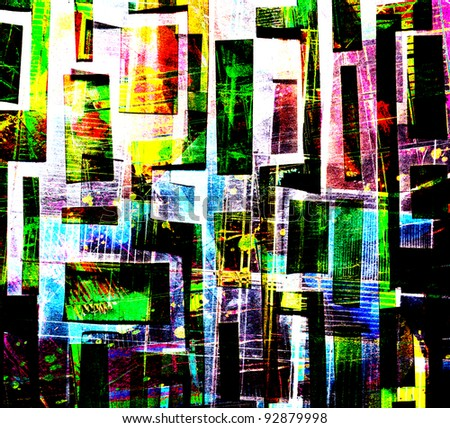 Collage Abstract Artists Abstract Collage Stock Photo
