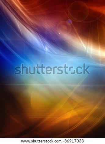 Abstract color background, futuristic composition