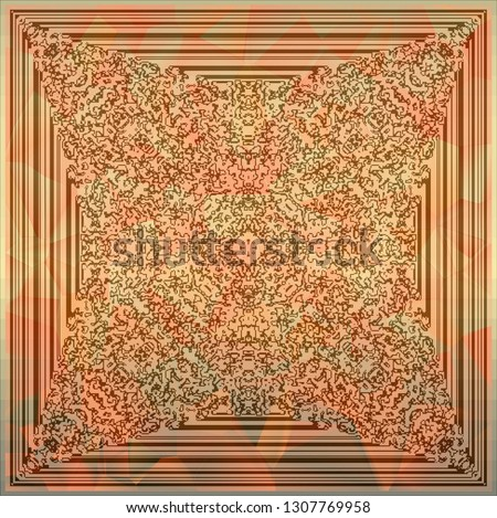 Abstract color background, illustration, cellular automata #1307769958