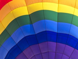 Abstract color background of closeup into balloon