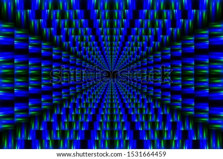 Abstract color background with a distant perspective. Perspective Pattern. #1531664459
