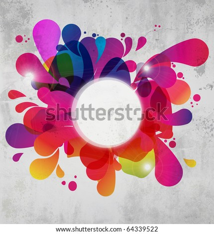 Abstract color burst on concrete texture