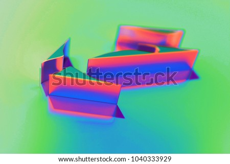 Abstract Color Envira Icon With Colorful Reflections on the Green Background With Smooth Focus. 3D Illustration of Agriculture, Ecology, Green, Leaf, Leaves, Natural Icon Set for Presentation.