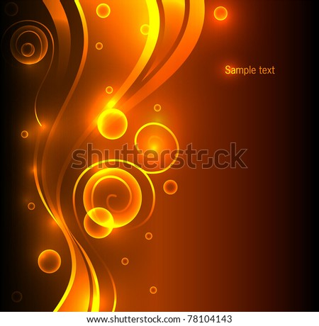 Abstract color glowing background