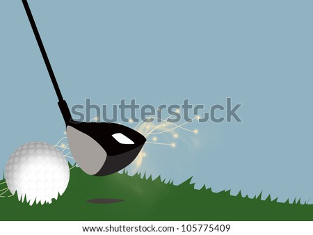 Abstract color golf sport background with space