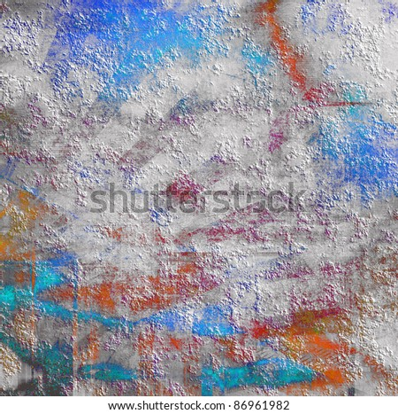 Abstract color grunge background, scratched surface texture