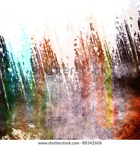 Abstract color grunge composition