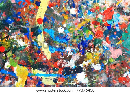abstract color paint