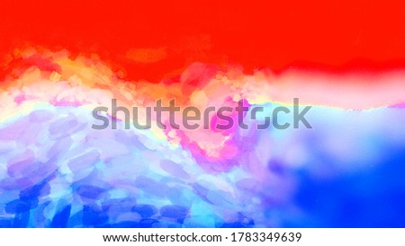 Abstract Color series. Abstract composition of colorful paint in motion on canvas suitable in projects related to art, creativity and imagination. 3D Rendering, 3D Illustration. stock photo