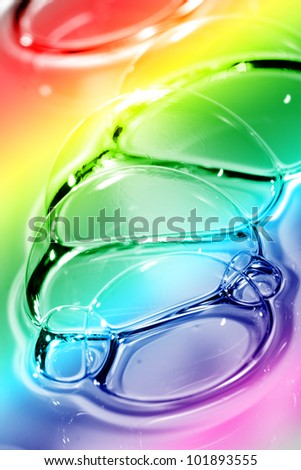 Abstract color soap bubbles background