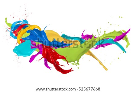 Abstract color splash isolated on white background #525677668